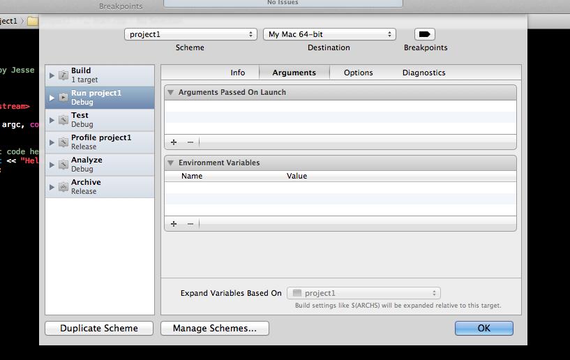 C++ Development in Xcode